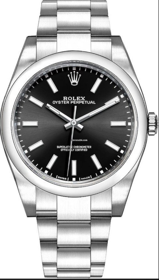 Rolex 114300 Oyster Perpetual 39mm Black Dial Steel For 5 600 For