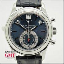 Patek Philippe Annual Calendar Chrono 5960 Platinum Blue Dial