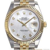 Rolex Datejust Or/Acier 41mm Nacre Sans chiffres