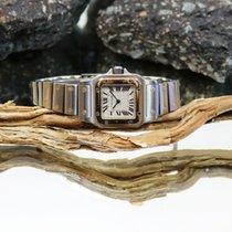 Cartier 24mm Kvarts brugt Santos (submodel) Hvid