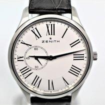 Zenith Elite Ultra Thin Acero 40mm Blanco Romanos España
