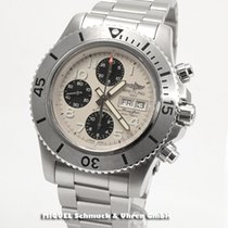 Breitling Steel Automatic Silver 44mm new Superocean Chronograph Steelfish