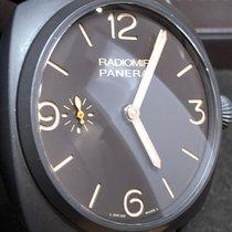 Panerai Cerâmica Corda manual Castanho Árabes 47mm usado Radiomir 3 Days 47mm
