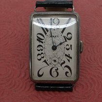 Rolex Prata 26mmmm Corda manual Rolex early exploded dial mans large rectangle vintage wrist usado