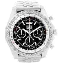 Breitling Bentley 6.75 new Automatic Watch with original box Breitling Black Stainless Steel Bentley 6.75 Speed