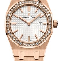 Audemars Piguet Royal Oak Lady Rose gold 33mm Silver No numerals United States of America, Florida, Sunny Isles Beach