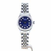 Rolex Oyster Perpetual Lady Date Acier 26mm Bleu Sans chiffres France, Lyon