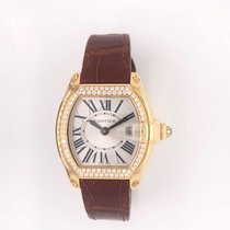Cartier Roadster Yellow gold Silver Roman numerals United States of America, Texas, Houston