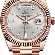 Rolex Red gold Automatic Pink 40mm new Day-Date 40