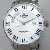 Edox Les Vauberts Steel 43mm Silver Roman numerals