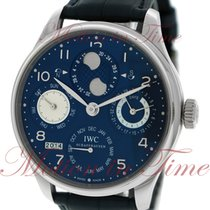IWC Portuguese Perpetual Calendar White gold 44.2mm Blue Arabic numerals United States of America, New York, New York
