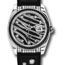 Rolex 116199 Datejust Royal Black 18KWhite Gold&Diamonds&a...