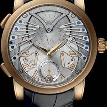 Ulysse Nardin CLASSIC STRANGER Pink Gold Musical Clock Leather...