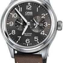 Oris Steel Automatic Grey 44.7mm new Big Crown ProPilot Worldtimer