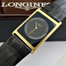 Longines 24,5mm Quartz 1979 tweedehands Zwart
