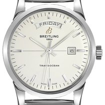 Breitling Transocean Day & Date Steel 43mm Silver United States of America, New York, New York