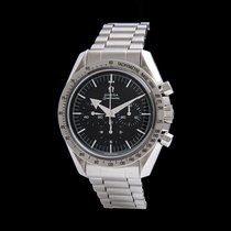 Omega Acero Cuerda manual Negro Sin cifras 42mm usados Speedmaster Professional Moonwatch