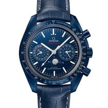 Omega Speedmaster Professional Moonwatch Moonphase Ceramic Blue No numerals