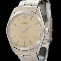 Rolex Oyster Perpetual 34 Acero 34mm Champán Sin cifras