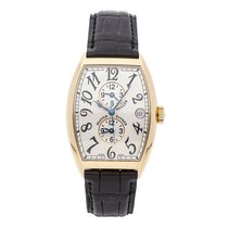 Franck Muller Master Banker Yellow gold 46mm Silver Arabic numerals