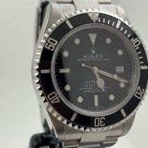 Rolex Sea-Dweller 4000 Stahl 40mm Schwarz Keine Ziffern