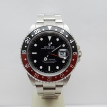 Rolex GMT-Master II Stål 40mm Sort Ingen tal