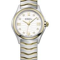 Ebel Wave Gold/Steel 30mm Silver Roman numerals