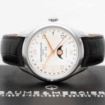 Baume & Mercier Clifton Steel 43mm Silver Arabic numerals