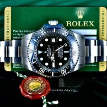 Rolex Steel Automatic Black No numerals 44mm pre-owned Sea-Dweller Deepsea