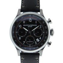 Baume & Mercier Capeland Chronograph Stainless Steel Black...