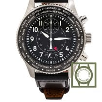 IWC Pilot Chronograph Black Dial Stainless Steel GMT NEW