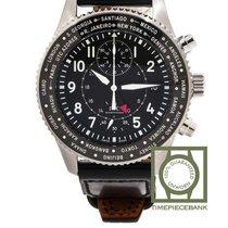 IWC Pilot Chronograph Acier 45mm Noir Arabes