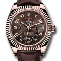 Rolex Sky-Dweller Rose gold 42mm Brown Arabic numerals United States of America, California, Studio City
