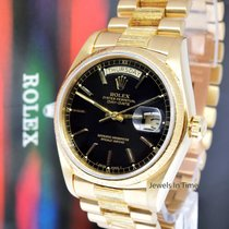 Rolex Vintage Day-Date 18k Yellow Gold President Black Dial...