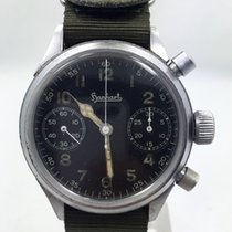 Hanhart 42mm Manual winding 1940 pre-owned Black
