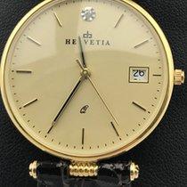 Helvetia new Quartz Gemstones and/or diamonds 33mm Yellow gold