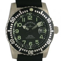 Zeno-Watch Basel Airplane Diver Steel 45mm Black