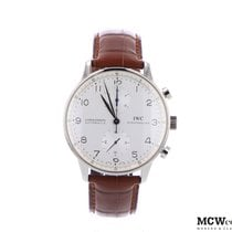 IWC Or blanc 40mm Remontage automatique Portuguese (submodel) nouveau Belgique, Waterloo