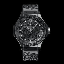 Hublot Big Bang Broderie Steel 41mm Black Arabic numerals