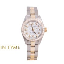 Rolex Ladies TT Oyster Perpetual - Mother Of Pearl Diamond...