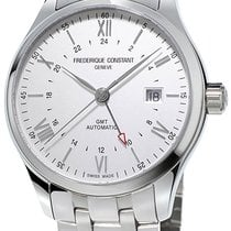 Frederique Constant Classics Index GMT Steel Silver United States of America, New York, Brooklyn