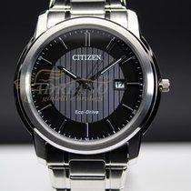 Citizen Stahl 41mm Quarz AW1211-80W neu