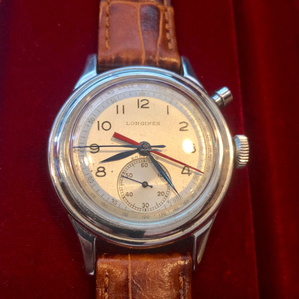 Longines Longines Single Button Flyback Chronostop Ref 5681 1946 pre-owned