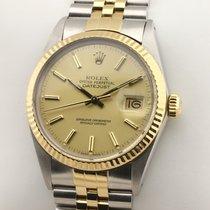 Rolex 16013 Zlato/Zeljezo 1986 Datejust 36mm rabljen