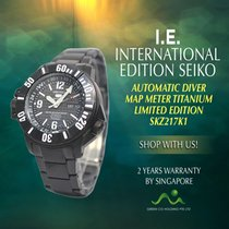 Seiko Titanium Automatic Black No numerals new 5 Sports