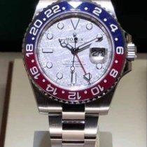 Rolex Or blanc Remontage automatique Gris Sans chiffres 40mm nouveau GMT-Master II