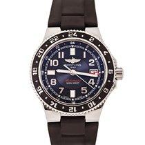 Breitling Superocean GMT Acero 41mm Negro Árabes