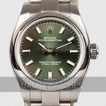 Rolex Oyster Perpetual 26 Stahl 26mm Grün
