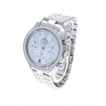 Omega Speedmaster Ladies Chronograph Сталь 38mm Перламутровый Aрабские