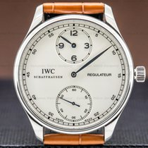 IWC Platinum Manual winding Silver Arabic numerals 43mm pre-owned Portuguese (submodel)